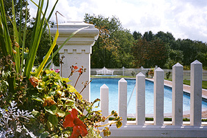 Long Island fence company makes beautiful vinyl fencing for your pool area
