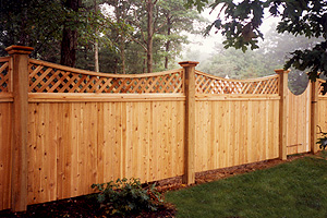 Long Island, NY fence company can create maintenance-free wood fencing and gates made from cedar, spruce in many different styles.